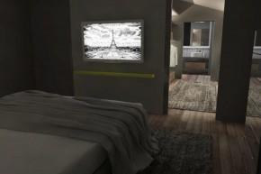 Interior desing riorganizzazione zona notte